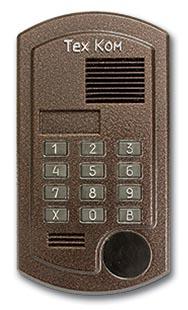 Как домофон tehcom открыть без ключа