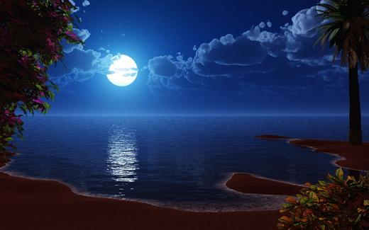 Воздействие луны на приливы и отливы