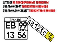 Сколько можно ездить с транзитными номерами