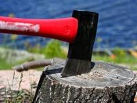 Как колоть дрова колуном