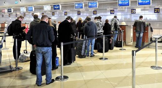 Регистрация на рейс самолета очередь